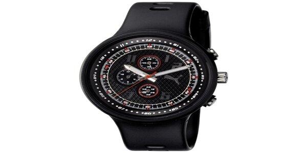 Pánske plastové čierne hodinky Adidas
