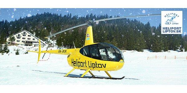 Vyhliadkový let vrtuľníkom ponad Liptov