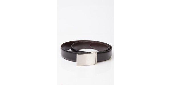 Pánsky čierno-hnedý obojstranný kožený opasok Calvin Klein