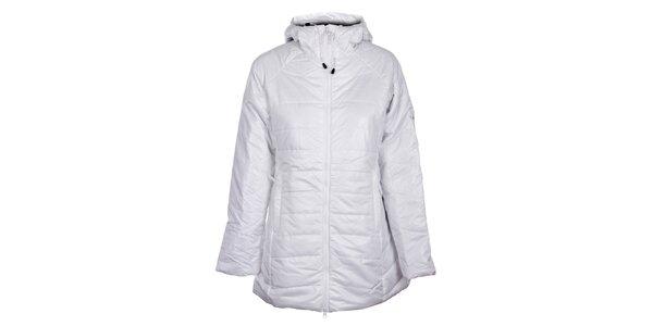 Dámsky biely zimný prešívaný kabát Loap