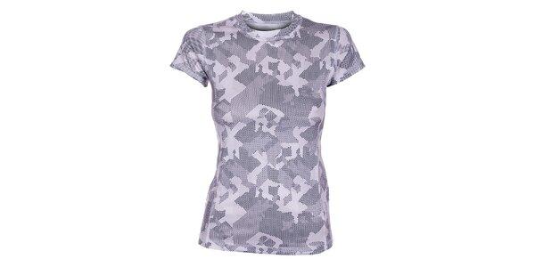 Dámske šedé termo tričko Loap s potlačou