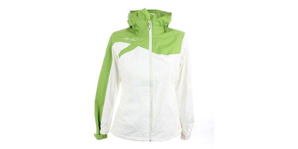 Dámska bielo-zelená bunda Loap
