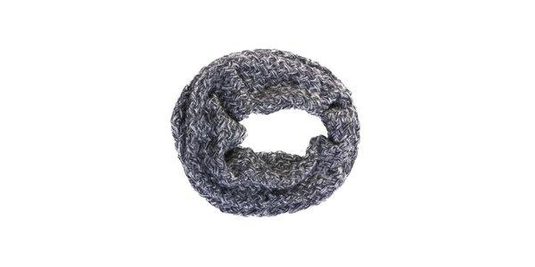 Dámsky šedý kruhový šál Invuu