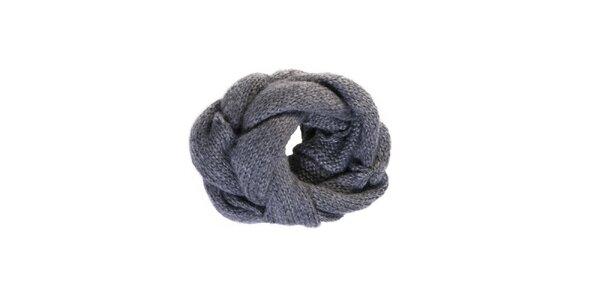 Dámsky šedý pletený kruhový šál Invuu
