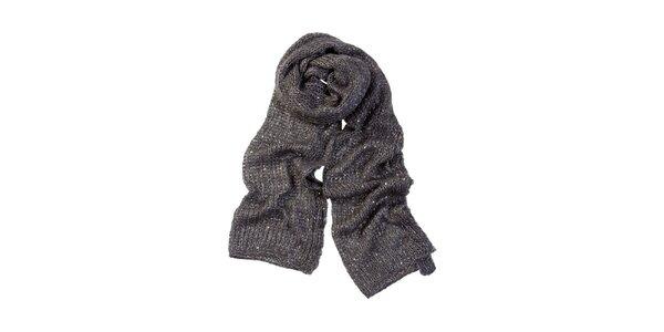Dámsky šedý šál so strieborný lurexovým vláknom Invuu