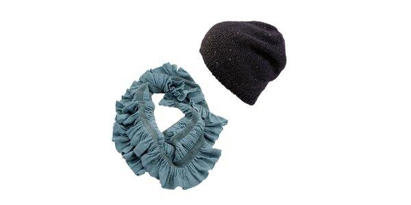 Dámsky set čiapky a tyrkysového šálu Invuu