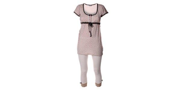 Dámsky ružový pyžamový set legín a trička Vive Maria