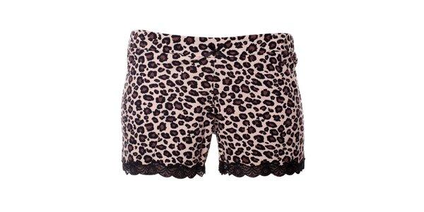 Dámske pyžamové šortky s leopardím vzorom Vive Maria
