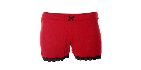 Dámske červené pyžamové šortky Vive Maria