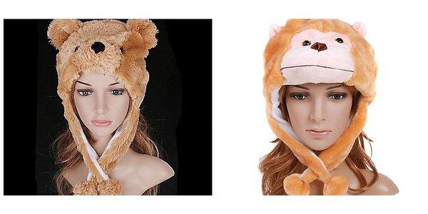 Buďte štýlový so zvieracou čiapkou. Vhodný Vianočný darček.