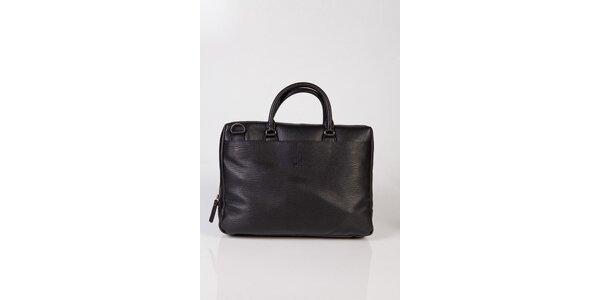 Čierna kožená taška na notebook Calvin Klein