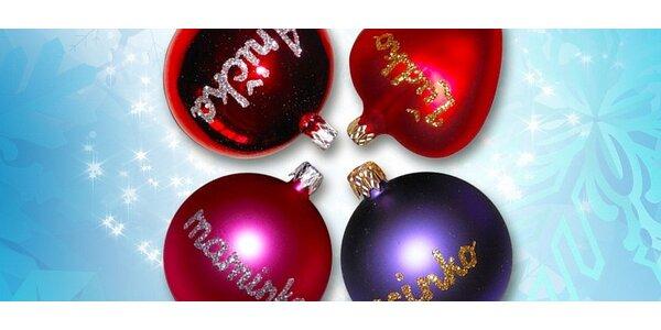 4 x Vianočné gule s vlastným nápisom