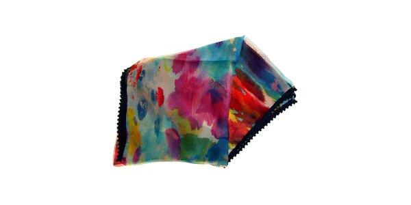 Dámska dúhovo farebná hodvábna šatka Fraas