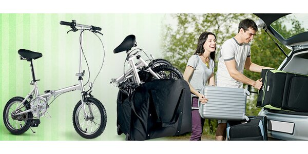 Šikovný skladací bicykel s PE taškou