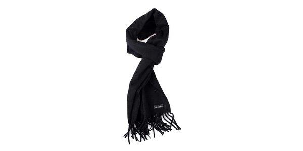 Čierny vlnený šál Fraas