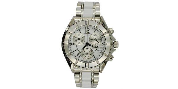 Dámske strieborné oceľové hodinky s chronografom Cerutti 1881