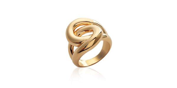 Dámsky masívny prepletaný prsteň La Mimossa