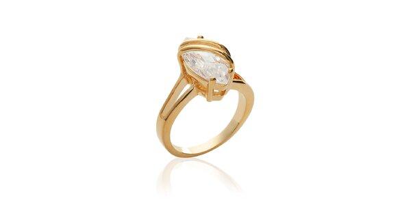 Dámsky pozlátený prsteň so zirkónom La Mimossa