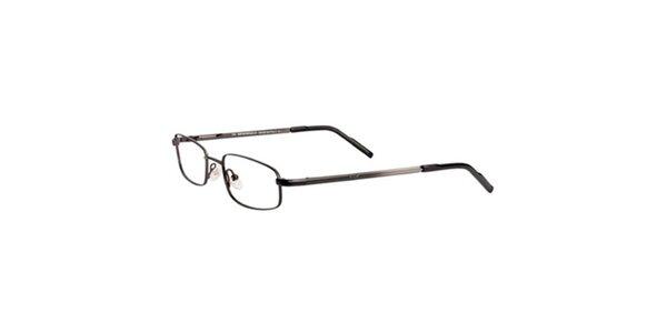 Dámske tmavo strieborné hranaté okuliare Emporio Armani