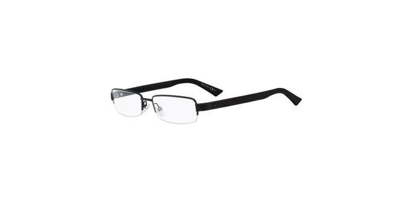 Čierne dioptrické okuliare Emporio Armani