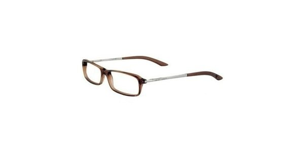 Dámske hnedé dioptrické okuliare Emporio Armani