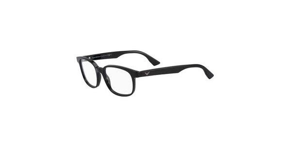 Dámske čierne retro okuliare Emporio Armani