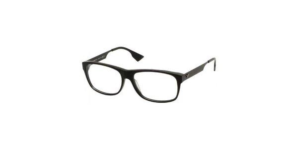 Pánske čierne plastové okuliare Emporio Armani
