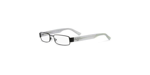 Unisexové okuliare s transparentnými stranicami Emporio Armani