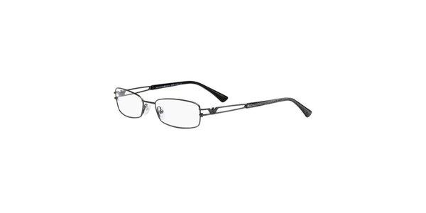 Dámske tenké hranaté okuliare Emporio Armani