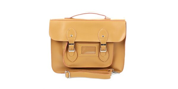 Dámska veľká béžová kabelka s prackami London Fashion