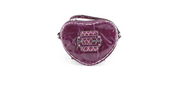Dámska tmavo fialová kabelka Guess