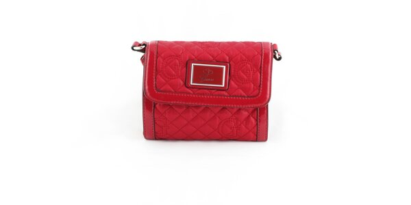 Dámska červená prešívaná kabelka Guess