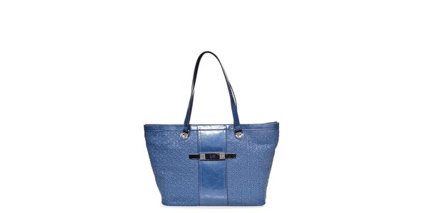 Dámska svetlo modrá kabelka Guess