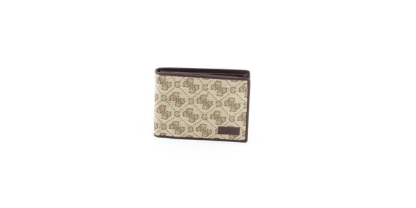 Pánska béžová peňaženka Guess