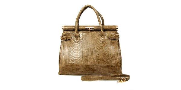 Dámska svetlo hnedá kabelka so zámočkom London Fashion