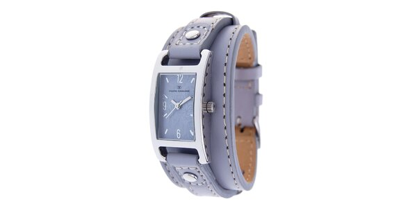 Dámske náramkové hodinky Tom Tailor so svetlo fialovým koženým remienkom