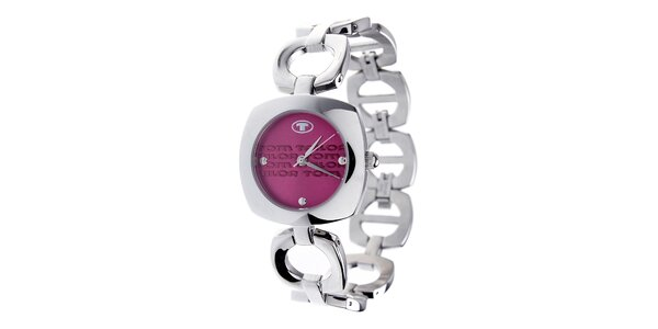 Dámske oceľové hodinky Tom Tailor s ružovým ciferníkom