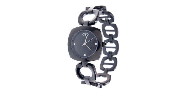 Dámske oceľové hodinky Tom Tailor s tmavo šedým ciferníkom