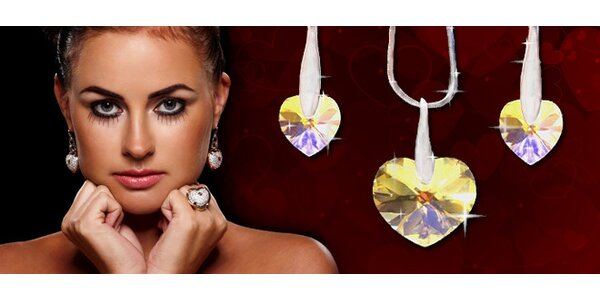 luxusná kolekcia šperkov SWAROVSKI ELEMENTS Hearts