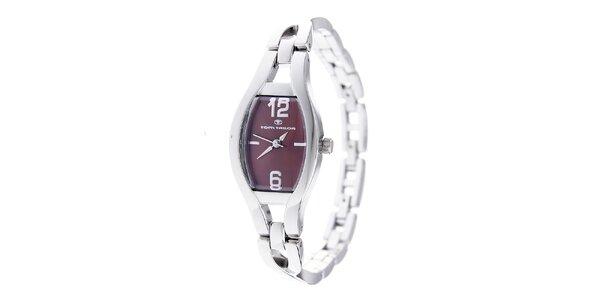 Dámske oceľové hodinky Tom Tailor s tmavo hnedým ciferníkom