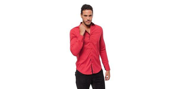 Pánska korálovo červená košeľa Bendorff