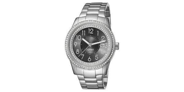 Dámske hodinky Esprit v striebornej farbe s antracitovým ciferníkom