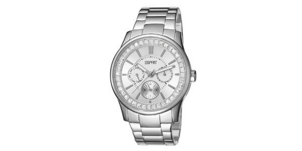 Dámske hodinky Esprit v striebornej farbe s bielym ciferníkom