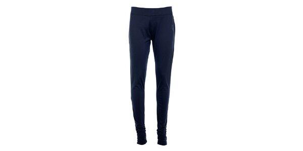 Dámske tmavo modré úzke nohavice Tom Tailor