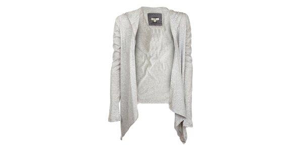 Dámsky svetlo šedý kabátik s kapucňou Tom Tailor