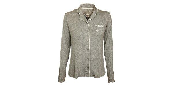 Dámsky šedý pyžamový kabátik Tom Tailor
