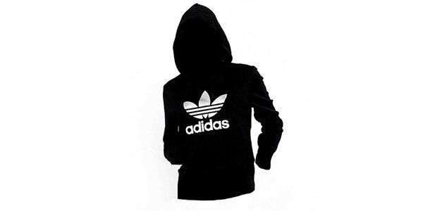 Dámska čierno-strieborná mikina Adidas