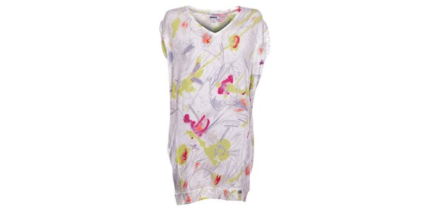Dámska biela nočná košeľa DKNY s potlačou