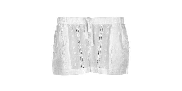 Dámske čipkové kraťasky DKNY v bielej farbe