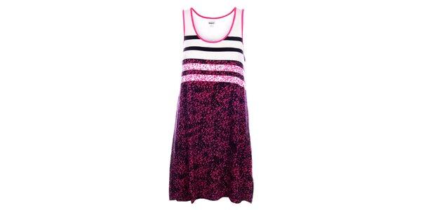 Dámska ružová nočná košeľa DKNY s potlačou